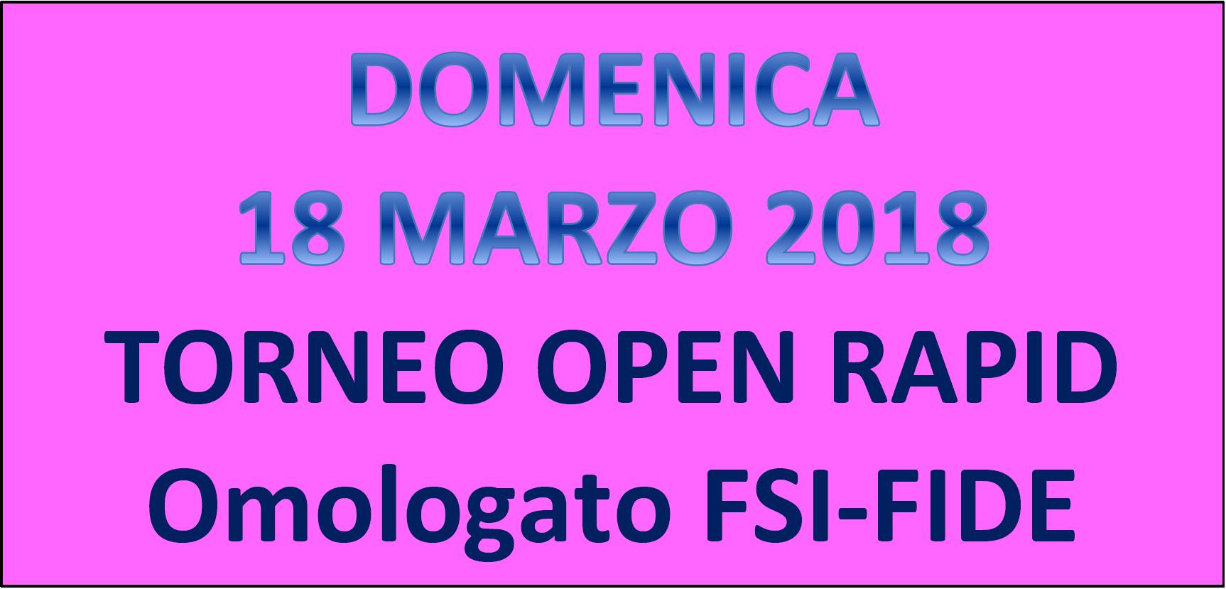 Semilampo FIDE del 18/03/2018