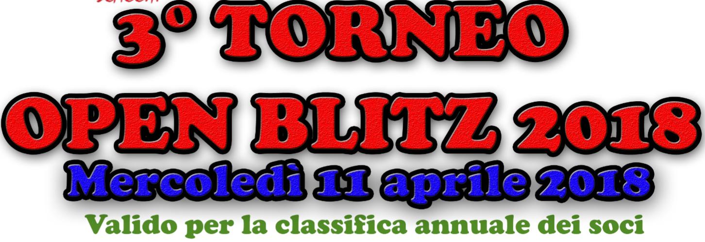 3° Torneo Blitz 2018
