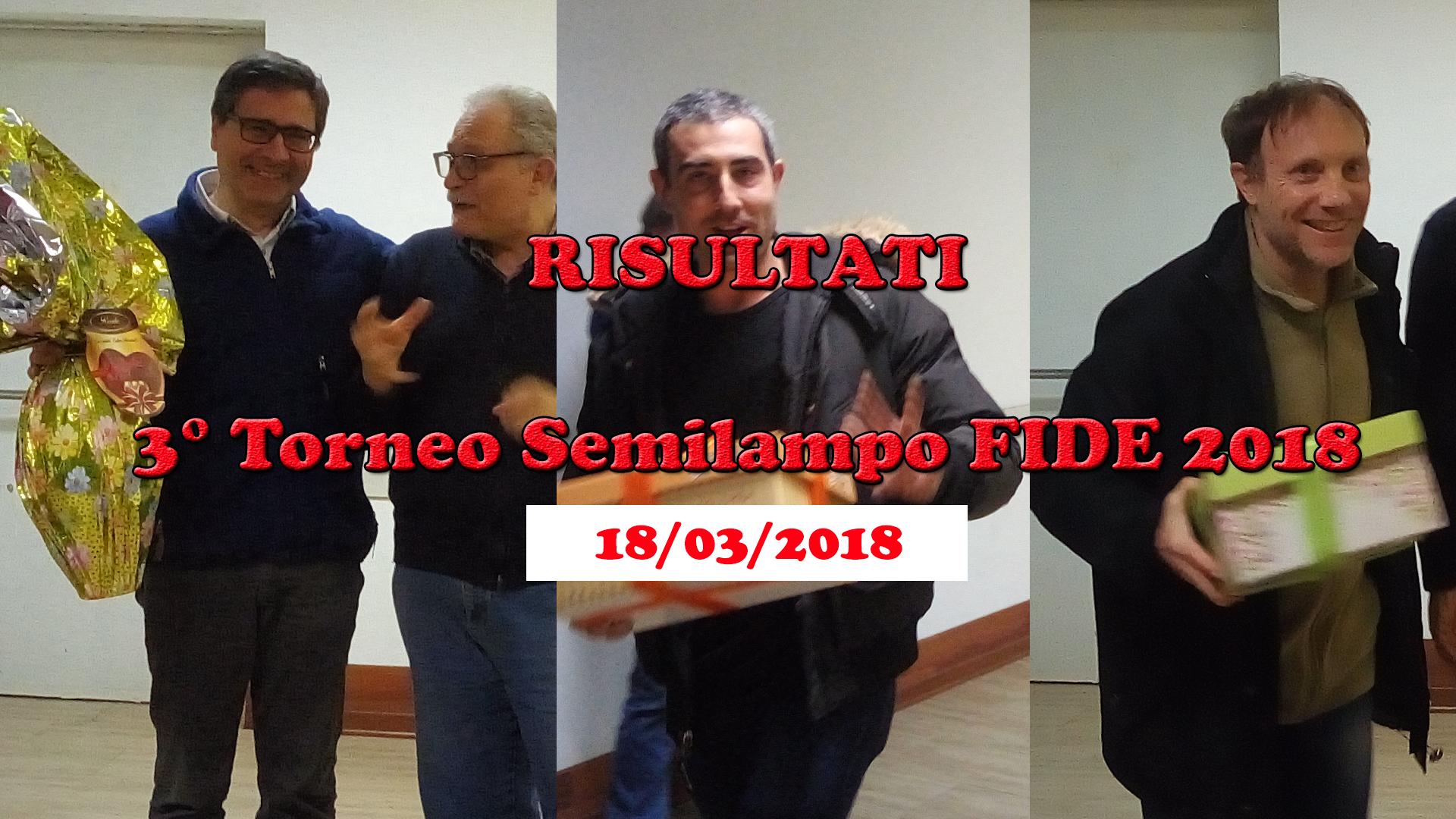 RISULTATI – Semilampo 18/03/2018