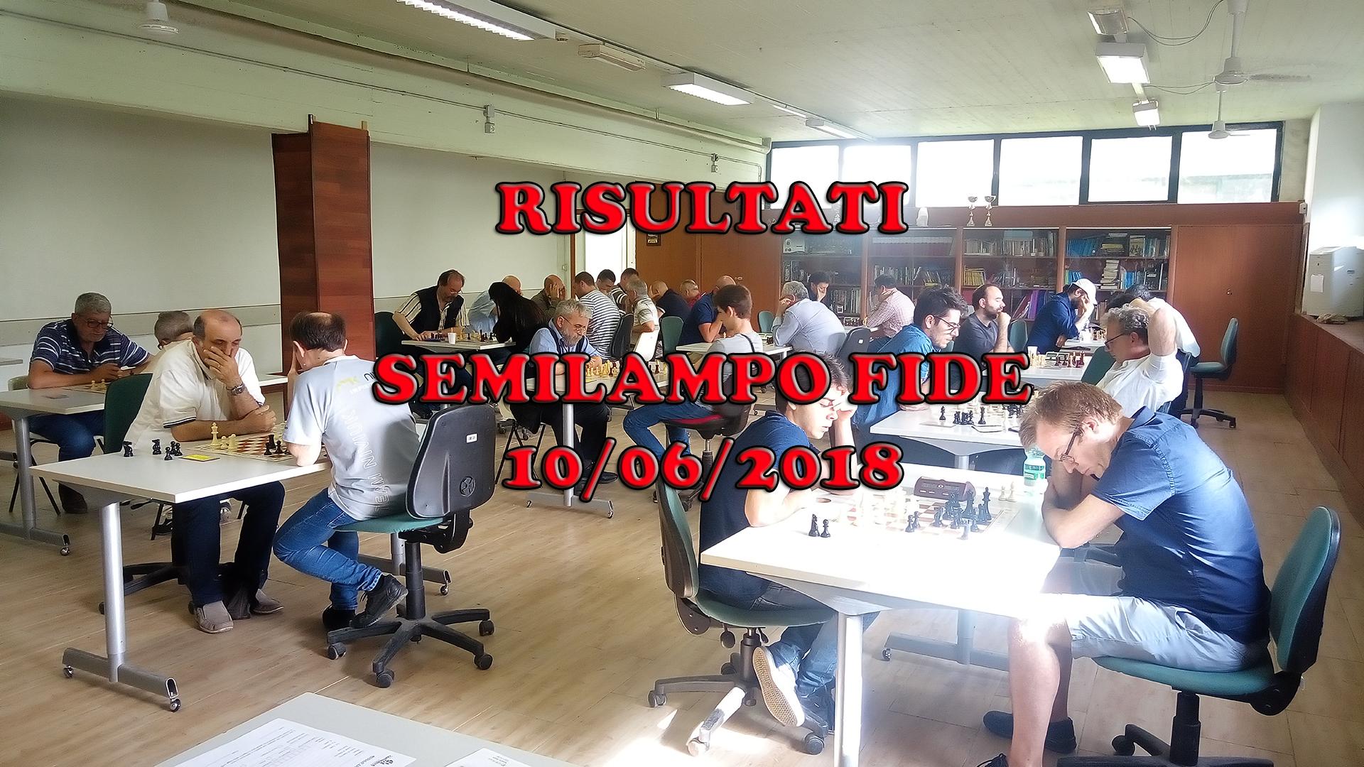 RISULTATI – Semilampo 10/06/2018