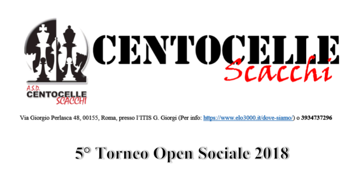 5° Torneo Open Sociale 2018