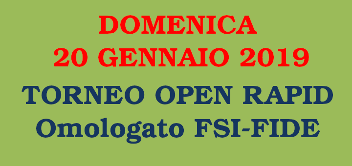 Semilampo FIDE del 20 gennaio 2019